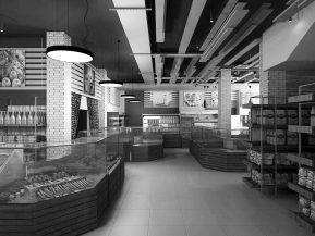 Дизайн интерьера продуктового магазина в Москве