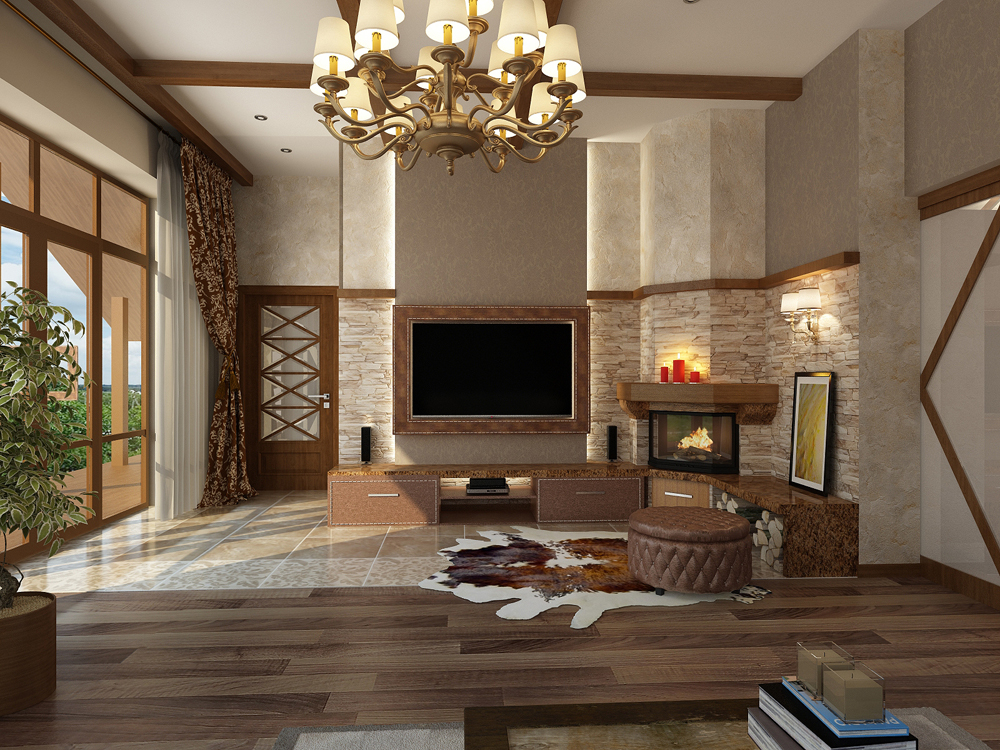 Дизайн интерьеров в стиле шале
