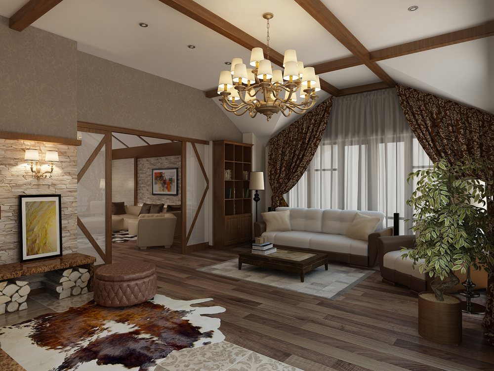 Дизайн интерьера в стиле шале
