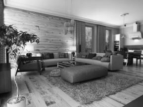 Интерьер дома в Скандинавском стиле пл. 230м2