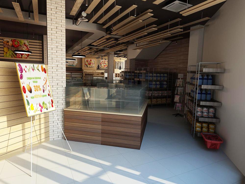 Дизайн проект интерьера магазина