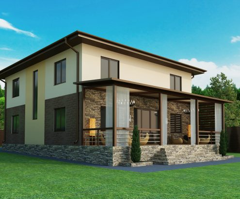 фасад частного дома  (4)watermark