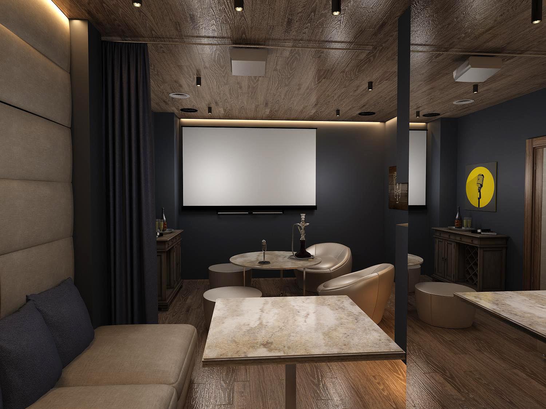 Дизайн интерьера кальянной
