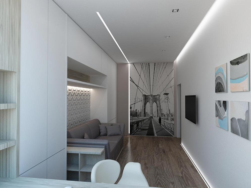 Дизайн квартиры в стиле хай тек
